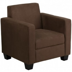 MFO Primo Collection Chocolate Brown Microfiber Chair