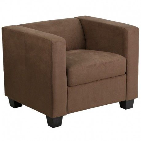 MFO Comfort Collection Chocolate Brown Microfiber Chair