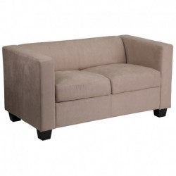 MFO Comfort Collection Light Brown Microfiber Loveseat