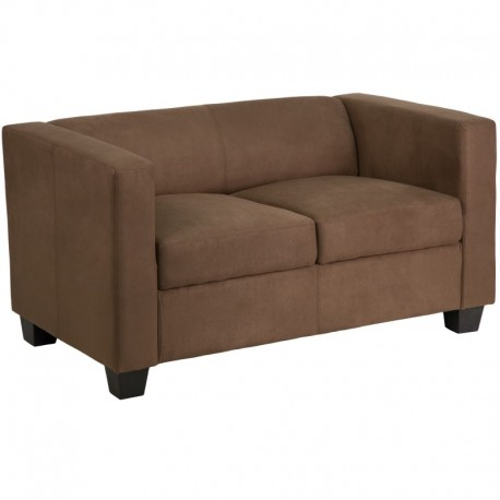 MFO Comfort Collection Chocolate Brown Microfiber Loveseat