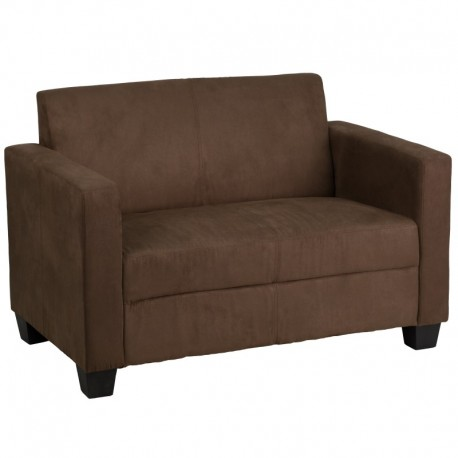 MFO Primo Collection Chocolate Brown Microfiber Loveseat
