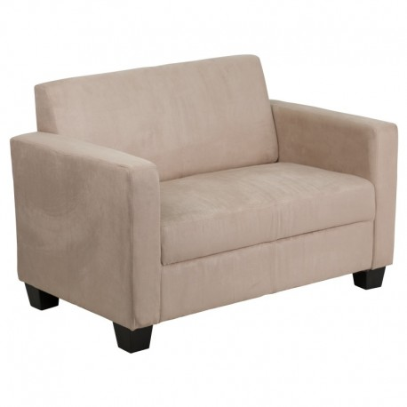 MFO Primo Collection Light Brown Microfiber Loveseat