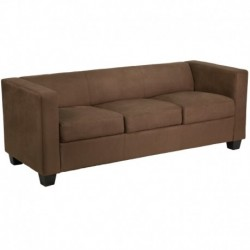 MFO Comfort Collection Chocolate Brown Microfiber Sofa