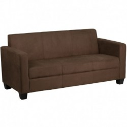MFO Primo Collection Chocolate Brown Microfiber Sofa
