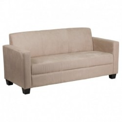 MFO Primo Collection Light Brown Microfiber Sofa