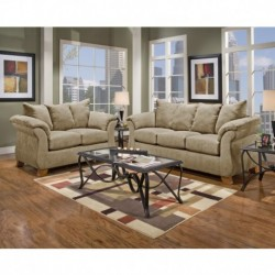 MFO Living Room Set in Sensations Camel Microfiber