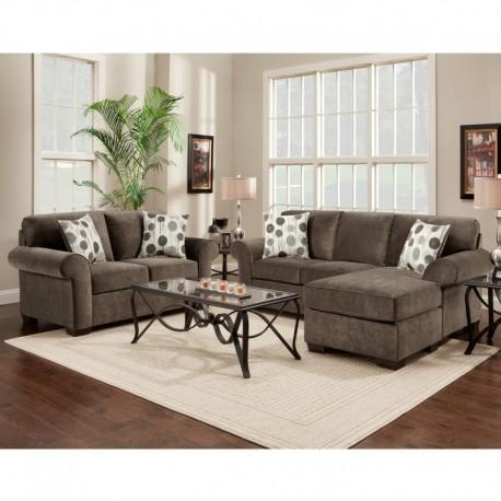 MFO Living Room Set in Elizabeth Ash Microfiber