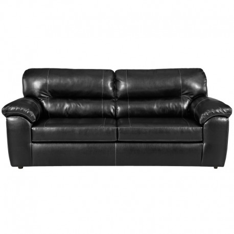 MFO Taos Black Leather Sofa