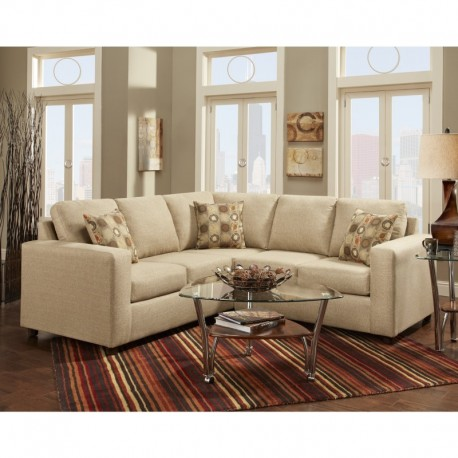 MFO Vivid Beige Fabric Sectional