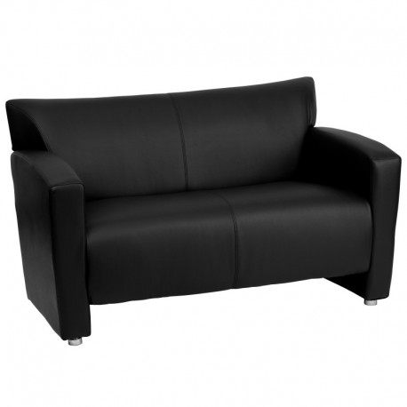MFO Sage Collection Black Leather Love Seat