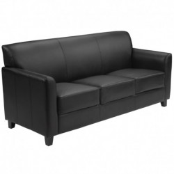 MFO Able Collection Black Leather Sofa