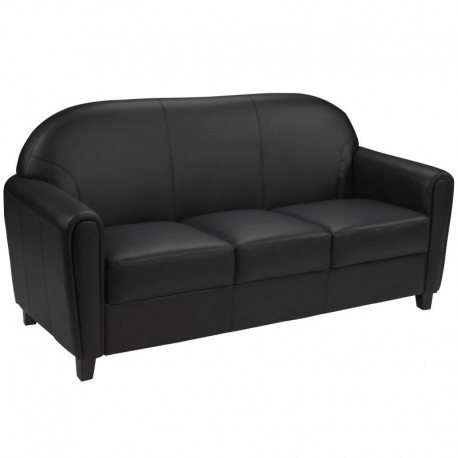 MFO Presidential Collection Black Leather Sofa