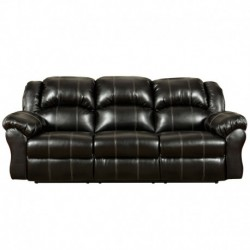 MFO Taos Black Leather Reclining Sofa