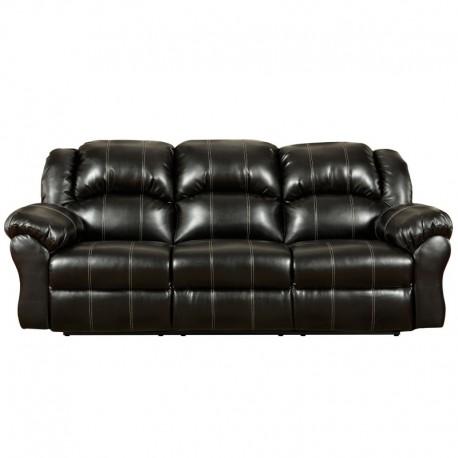MFO Taos Black Leather Reclining Sofa