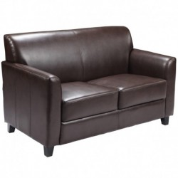 MFO Able Collection Brown Leather Love Seat