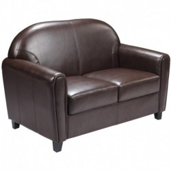 MFO Presidential Collection Brown Leather Love Seat