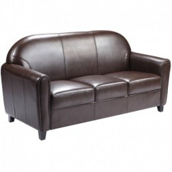 MFO Presidential Collection Brown Leather Sofa