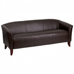 MFO Emperor Collection Brown Leather Sofa