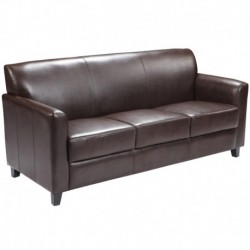 MFO Able Collection Brown Leather Sofa