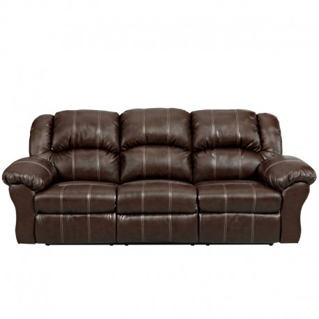 MFO Brandon Brown Leather Reclining Sofa
