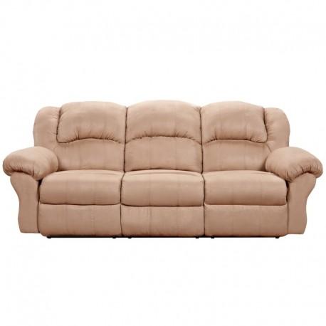 MFO Sensations Camel Microfiber Reclining Sofa