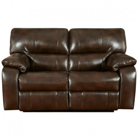 MFO Canyon Chocolate Leather Reclining Loveseat