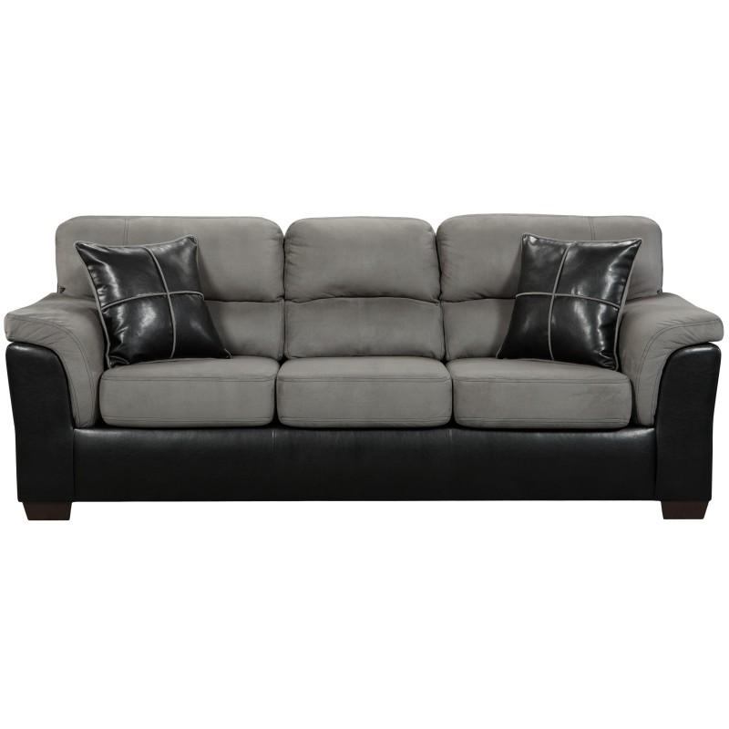 Laredo Sofa And Loveseat: MFO Laredo Graphite Microfiber Sofa