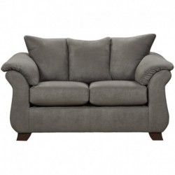 MFO Sensations Grey Microfiber Loveseat