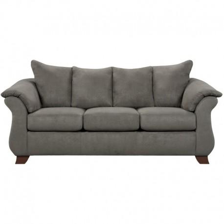 MFO Sensations Grey Microfiber Sofa