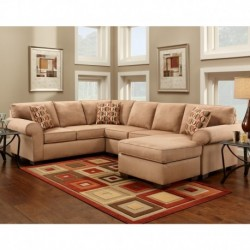 MFO Patriot Mocha Microfiber U-Shaped Sectional