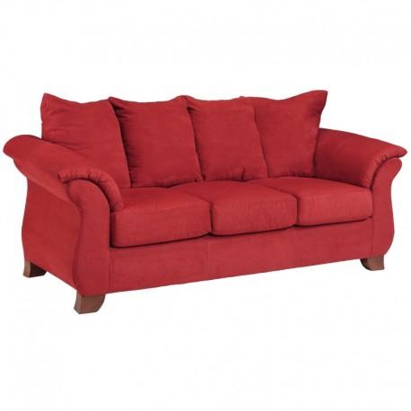 MFO Sensations Red Brick Microfiber Sofa