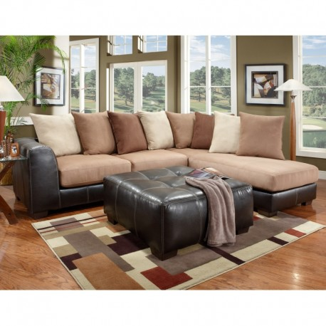 Mfo sea rider saddle microfiber l shaped sectional for Inexpensive furniture