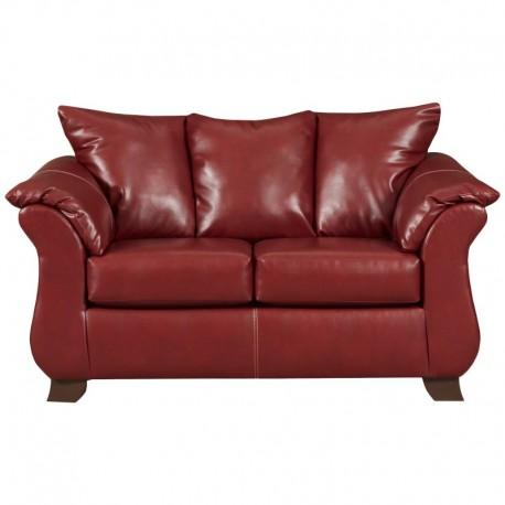 MFO Sierra Red Leather Loveseat