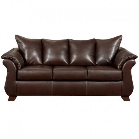 MFO Taos Mahogany Leather Sofa