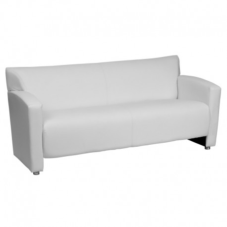 MFO Sage Collection White Leather Sofa