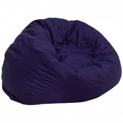 MFO Oversized Solid Navy Blue Bean Bag Chair