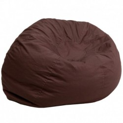 MFO Oversized Solid Brown Bean Bag Chair