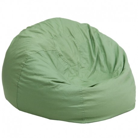 MFO Oversized Solid Green Bean Bag Chair