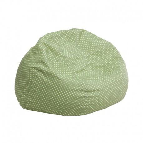 MFO Small Green Dot Kids Bean Bag Chair