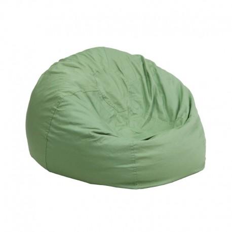 MFO Small Solid Green Kids Bean Bag Chair