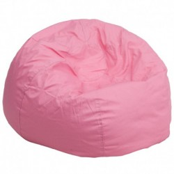 MFO Oversized Solid Light Pink Bean Bag Chair