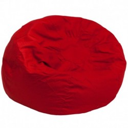 MFO Oversized Solid Red Bean Bag Chair