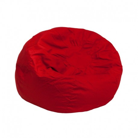 MFO Small Solid Red Kids Bean Bag Chair