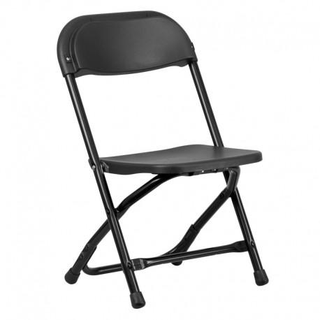 MFO Kids Black Plastic Folding Chair