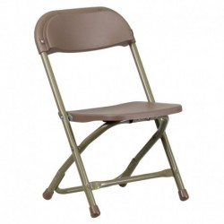 MFO Kids Brown Plastic Folding Chair