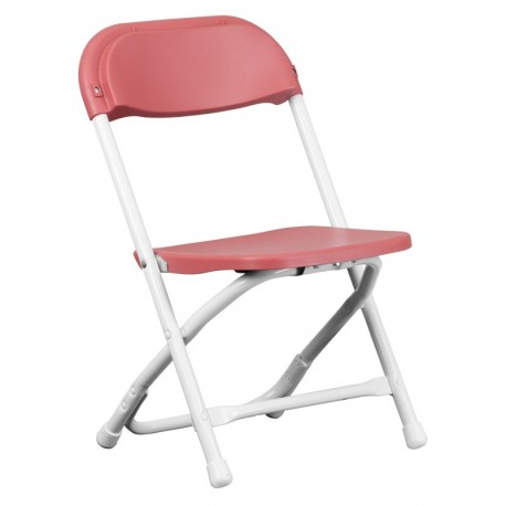 MFO Kids Burgundy Plastic Folding Chair