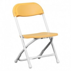 MFO Kids Yellow Plastic Folding Chair