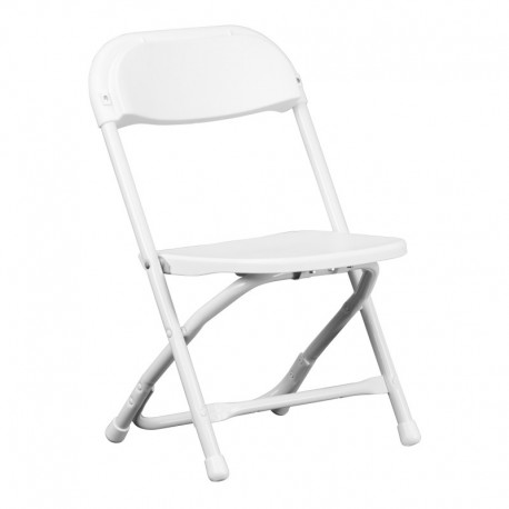 MFO Kids White Plastic Folding Chair