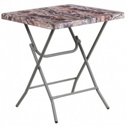 MFO 27'' Square Camouflage Plastic Folding Table