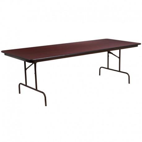 MFO 36'' x 96'' Rectangular High Pressure Laminate Folding Banquet Table